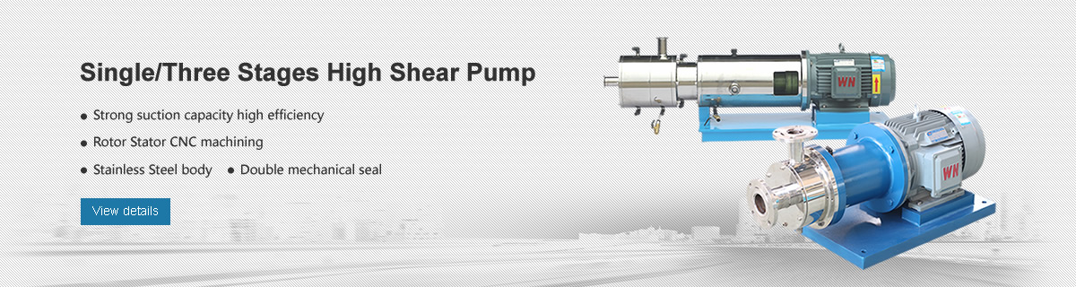 Single/Three stages high shear pump